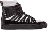 Damir Doma Black and White Falco High-top Sneakers