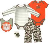 Cutie Pie Baby Orange & Camo Five-Piece Layette Set - Infant