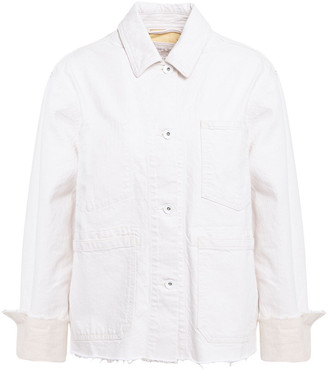 Rag & Bone Workwear Frayed Cotton And Linen-blend Jacket