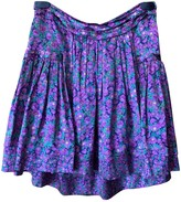 Roberto Cavalli Purple Silk Skirt for Women