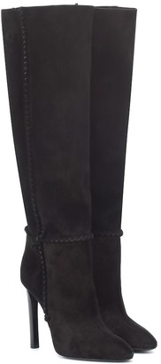 Saint Laurent Mica 105 suede knee-high boots