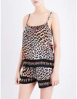 Rockins Leopard-print silk pyjama camisole