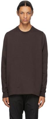 Rick Owens Burgundy Cotton Jersey Sweatshirt