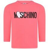 Moschino Girls Pink Heart Logo Top