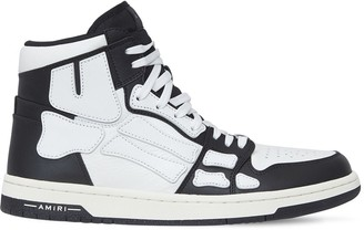 Amiri Bones High-Top Leather Sneakers
