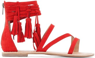 La Redoute Collections Flat Tassel Sandals