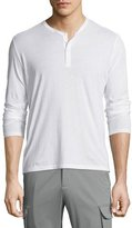 ATM Anthony Thomas Melillo Classic Long-Sleeve Henley Shirt, White