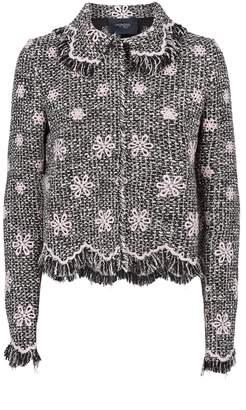 Giambattista Valli Floral Tweed Collared Jacket