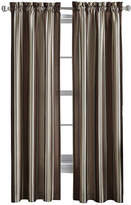 CHF Faux-Silk Stripe Rod-Pocket Curtain Panel