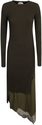 N°21 N.21 Ribbed Knit Long Length Dress