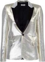 Saint Laurent singled breasted tuxedo jacket - women - Silk/Cotton/Lurex/Viscose - 36