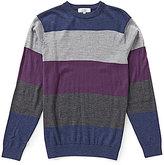 Turnbury Multi Horizontal Stripe Merino Wool Blend Crew Pullover Sweater