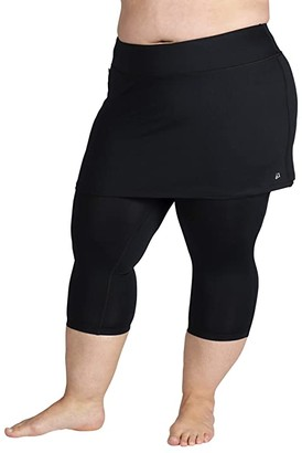 SkirtSports Skirt Sports Plus Size Lotta Breeze Capris Skirt (Black) Women's Casual Pants