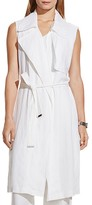 Vince Camuto Linen Trench Vest