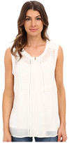 Lucky Brand Mixed Fabric Top