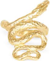 N. Medusa 24kt gold-plated bronze ring