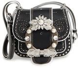 Miu Miu Dahlia Leather Shoulder Bag - Black