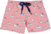 Sunuva Paper-Boat-Print Swim Trunks