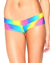 iHeartRaves Rainbow Crush Rave Booty Shorts (Medium/Large)