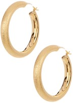 Candela 30mm 18K Yellow Gold Plated Sterling Silver Sparkle Hoop Earrings with 14K Gold Findings