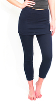 Magid Navy Skirted Leggings - Plus Too