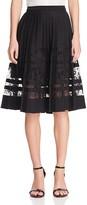 Elie Tahari Frances Lace Stripe Skirt