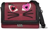 Karl Lagerfeld Appliquéd textured-leather shoulder bag