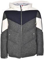 Moncler Gamme Bleu Striped Down Jacket