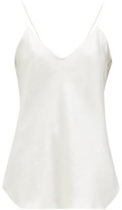 Nili Lotan Isabella V-neck Silk Camisole - Womens - Ivory