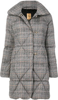 Fay houndstooth pattern coat