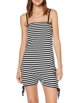 Nikita Women's Striped Straps Trousers Black Black White Small