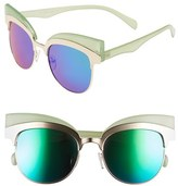 A. J. Morgan Women's A.j. Morgan 'Reign' 53Mm Oversize Cat Eye Sunglasses - Green