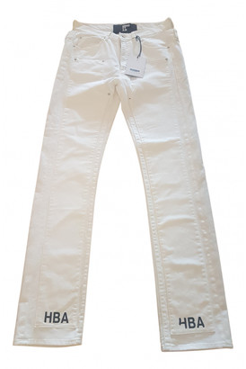 Hood by Air White Cotton Trousers