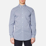 Lacoste Men's Gingham Long Sleeve Shirt Inkwell/White
