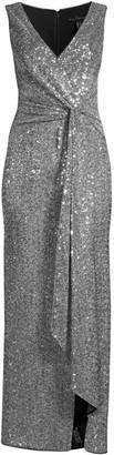 Aidan Mattox Twist Front Sequin Gown