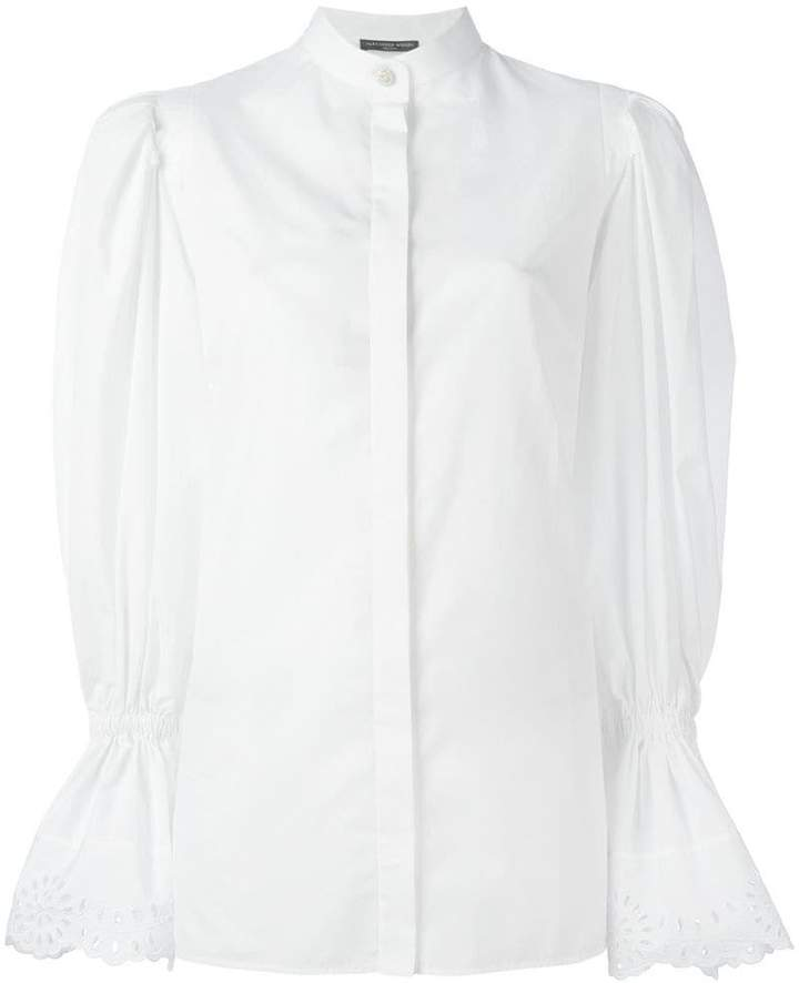 Alexander McQueen exaggerated sleeve blouse