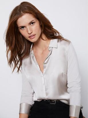 Mint Velvet Silk Satin Front Shirt