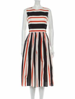 Dolce & Gabbana Striped Midi Length Dress