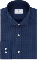 Ryan Seacrest Distinction Men's Slim-Fit Non-Iron Blue Print Dress Shirt, Only at Macy's