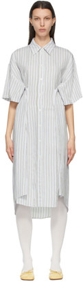 MM6 MAISON MARGIELA White Stripe Shirt Dress