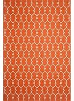 """Nobrand No Brand Indoor/Outdoor Fretwork Accent Rug - Orange (4'x5'6"""")"""
