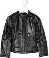 Diesel gathered zip jacket