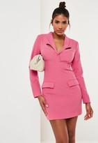 Missguided Fuchsia Corset Detail Tailored Blazer Dress