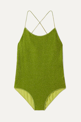 Oséree Kids Oseree Kids - Lumiere Stretch-lurex Swimsuit - Green
