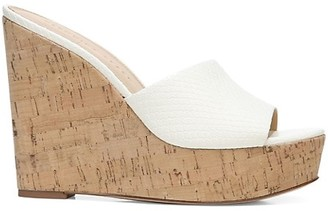 Veronica Beard Dali Python Embossed Wedge Sandals