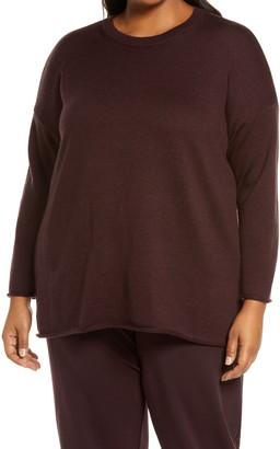 Eileen Fisher Merino Wool Boxy Sweater