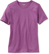 L.L. Bean Pima Cotton Tee, Crewneck Short-Sleeve