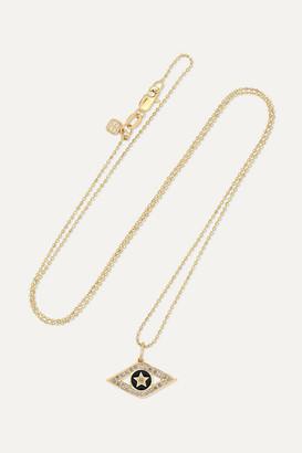 Sydney Evan Evil Eye 14-karat Gold, Enamel And Diamond Necklace