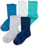 Gold Toe 6-pk. Space-Dyed Quarter Socks - Girls