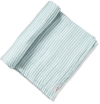 Pehr Stripes Away Cotton Swaddle - Sea sea/white